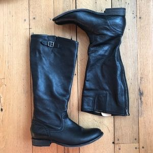 Frye Pippa Leather Back Zip Tall Riding Boots